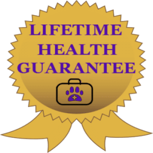 Reberstein's Lifetime Health Guarantee Logo