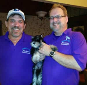 Dennis Gorrebeeck And Chip Simpson Owners Of Reberstein's Miniature Schnauzers
